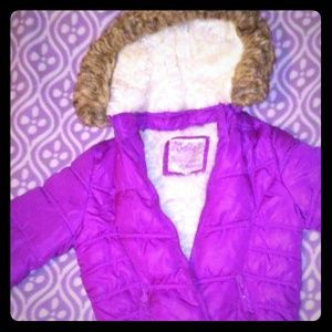 Girls Plush Purple Jacket